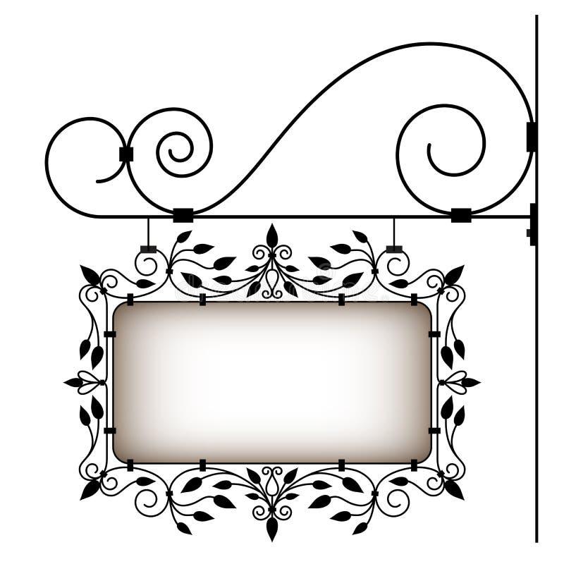 Ретро signboard бесплатная иллюстрация