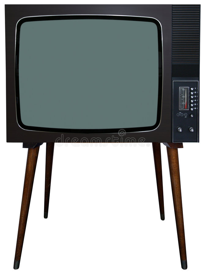 ретро tv стоковые фотографии rf
