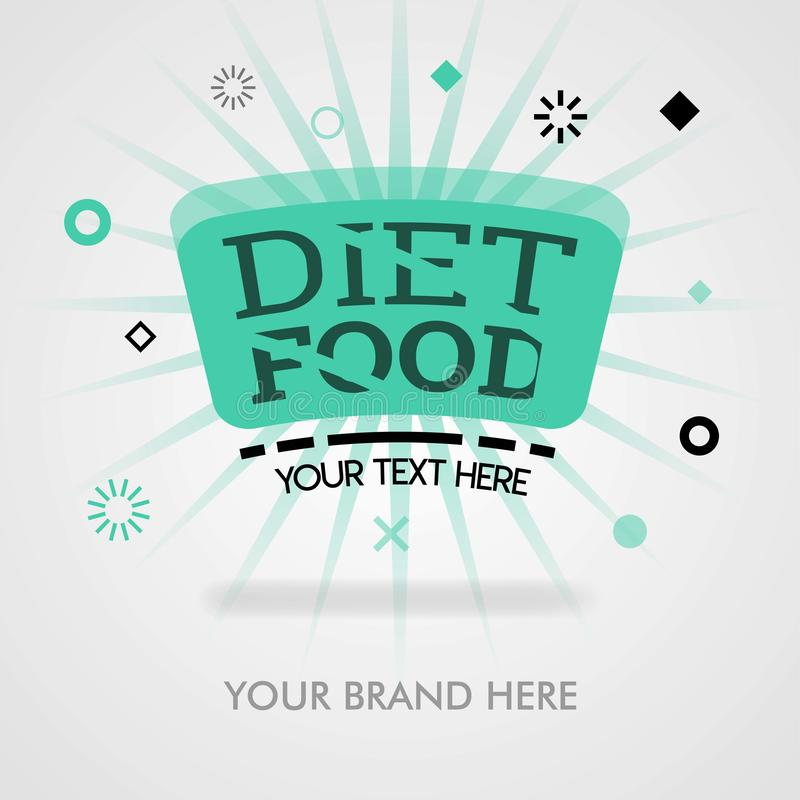 Рецепты еды диеты американские подсказки диеты блюдо еды диеты Обложка может быть для продвижения, рекламы, объявлений, выходить  иллюстрация штока