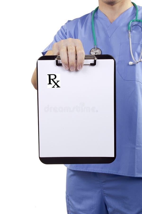 Рецепты доски сзажимом для бумаги медицинские стоковые изображения rf