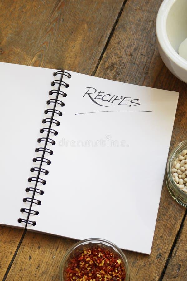 рецепт книги стоковое изображение rf