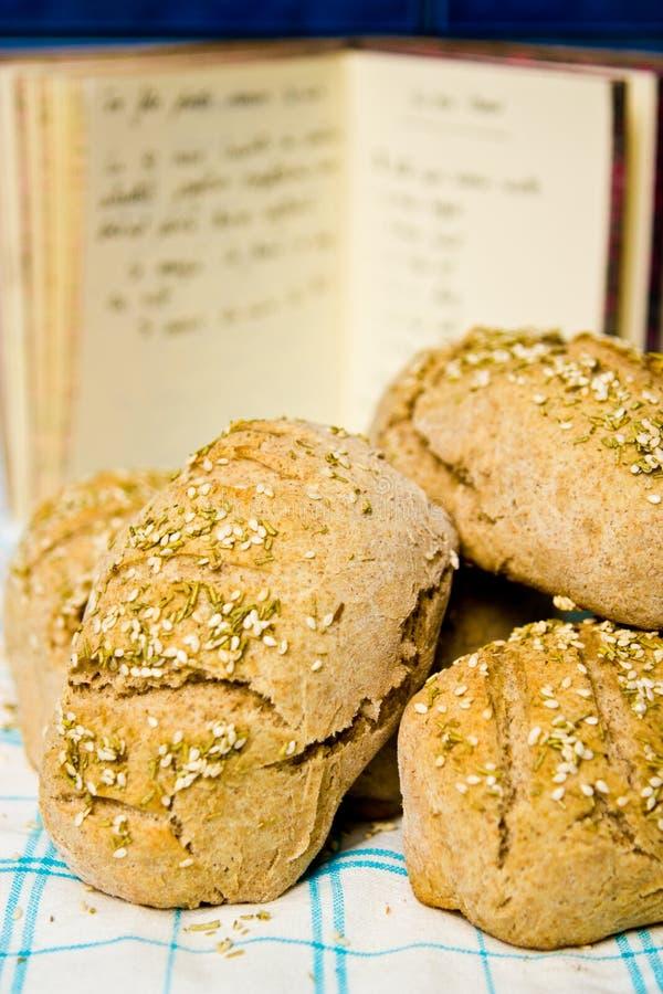 рецепт хлеба Стоковое Изображение RF