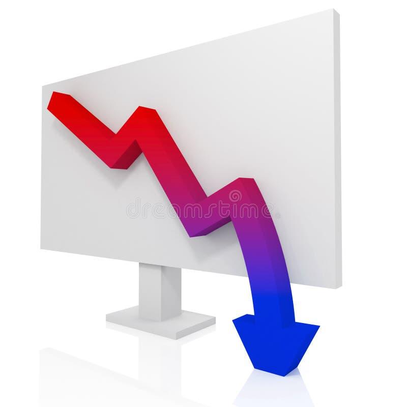 рецессия диаграммы иллюстрация штока