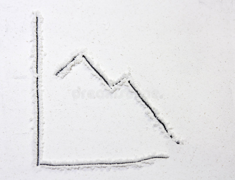 рецессия диаграммы стоковая фотография