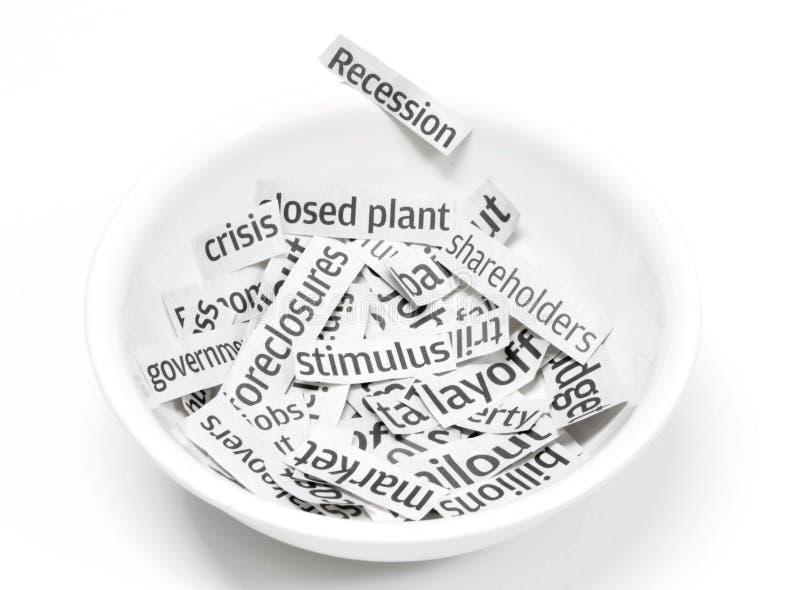 рецессия завтрака стоковое изображение
