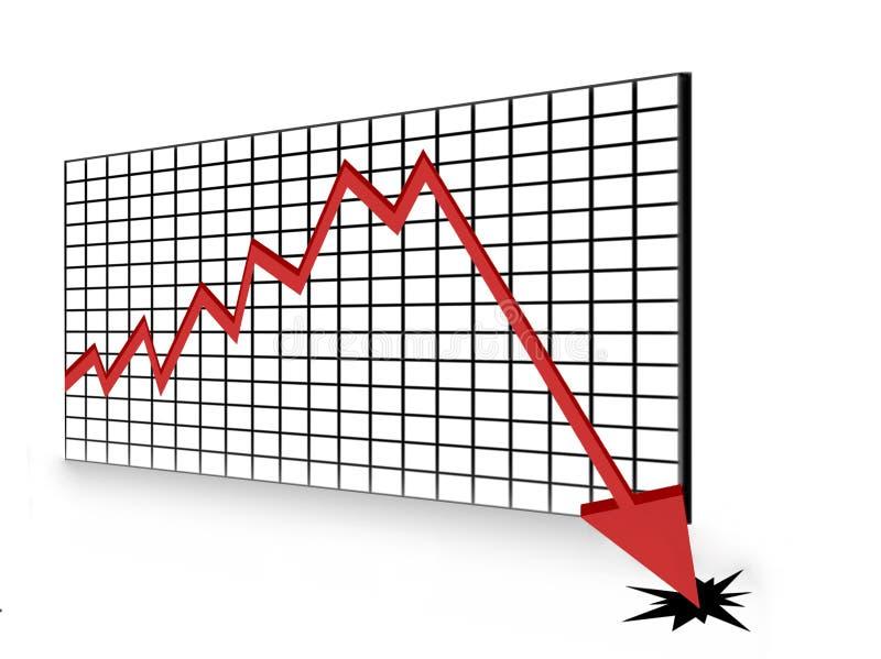 рецессия иллюстрация штока