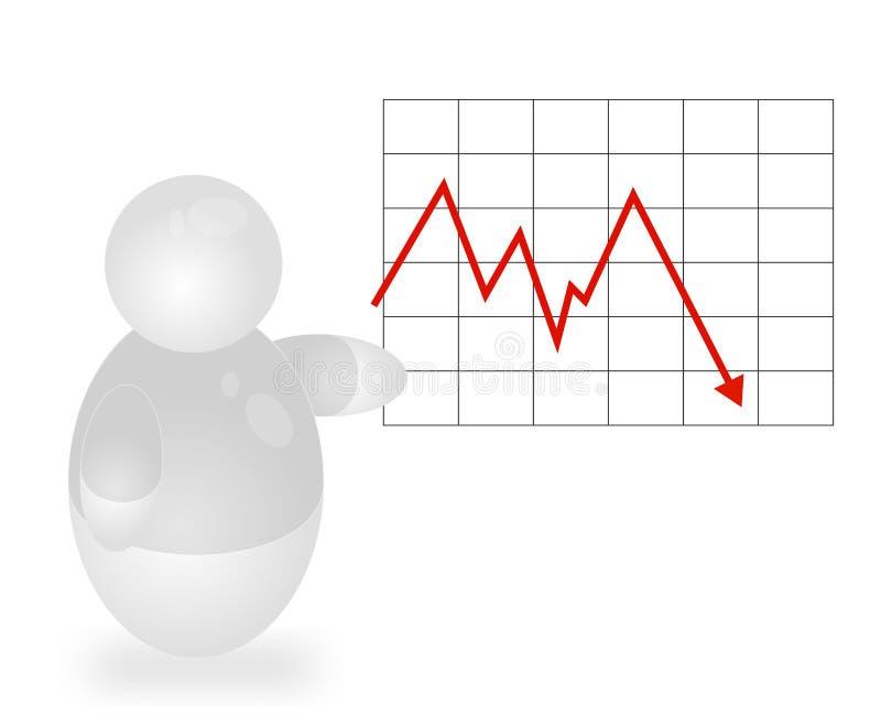 рецессия иллюстрация вектора