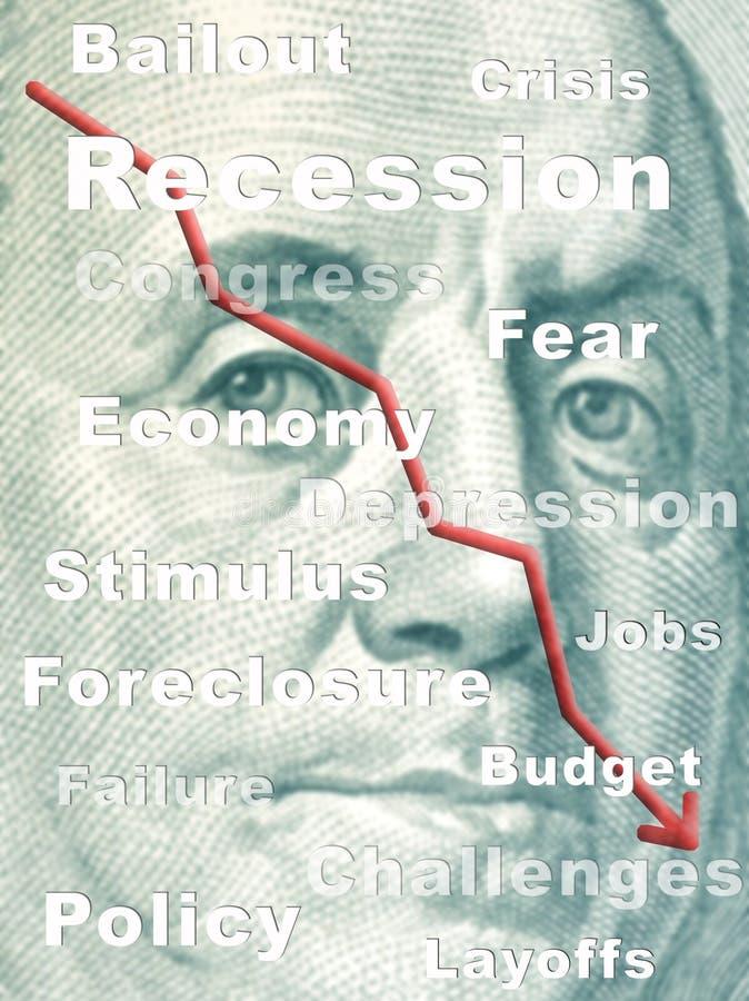 рецессия стоковое изображение rf