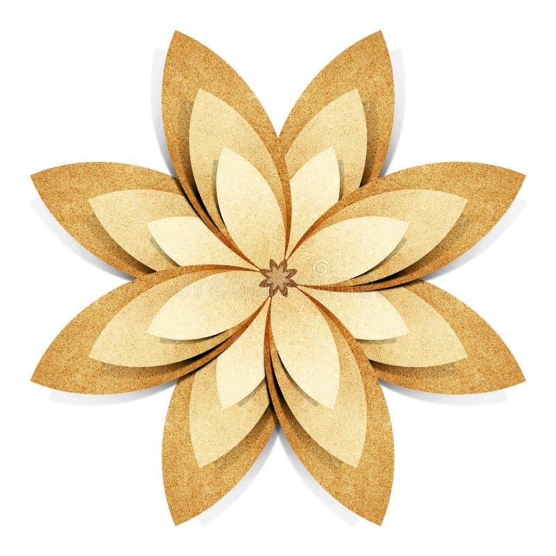 рециркулированная бумага origami цветка корабля стоковая фотография