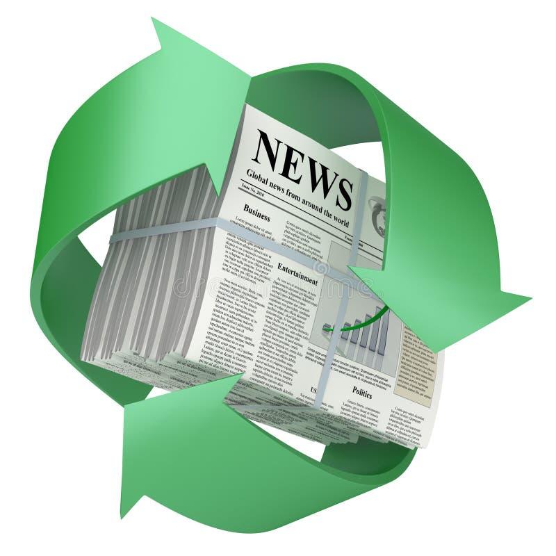 рециркулированная газета иллюстрация вектора