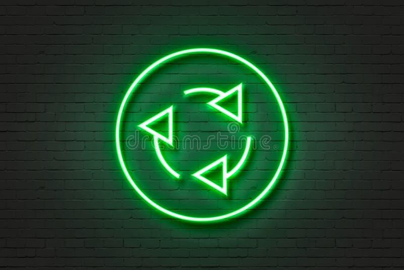 Рециркулировать значка неонового света стоковая фотография