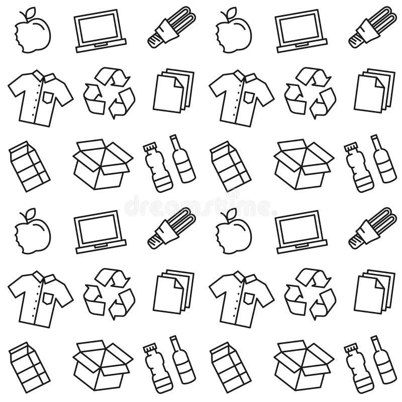 Рециркулируйте иллюстрацию вектора вещей бесплатная иллюстрация