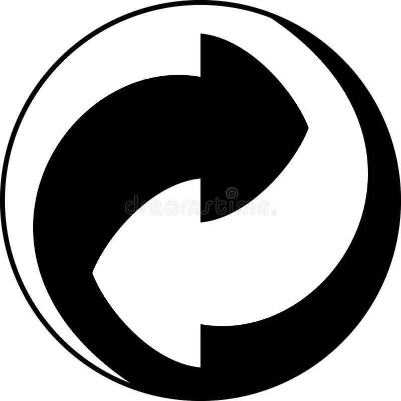 рециркулируйте символ иллюстрация вектора