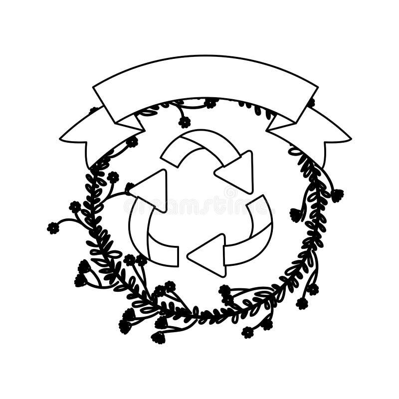 рециркулируйте дизайн знака иллюстрация штока
