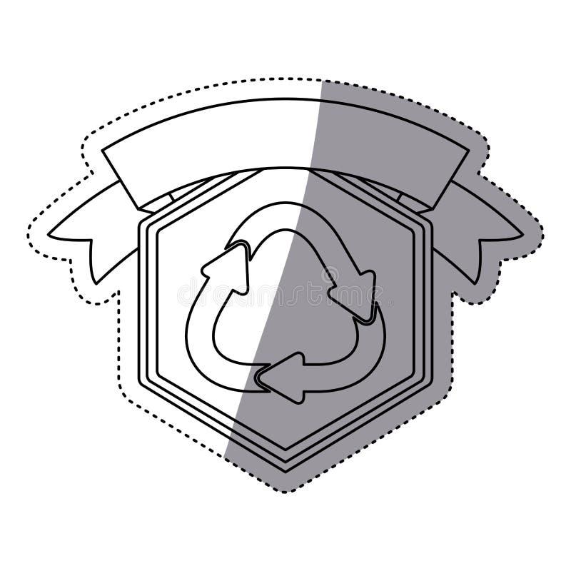 рециркулируйте дизайн знака иллюстрация вектора