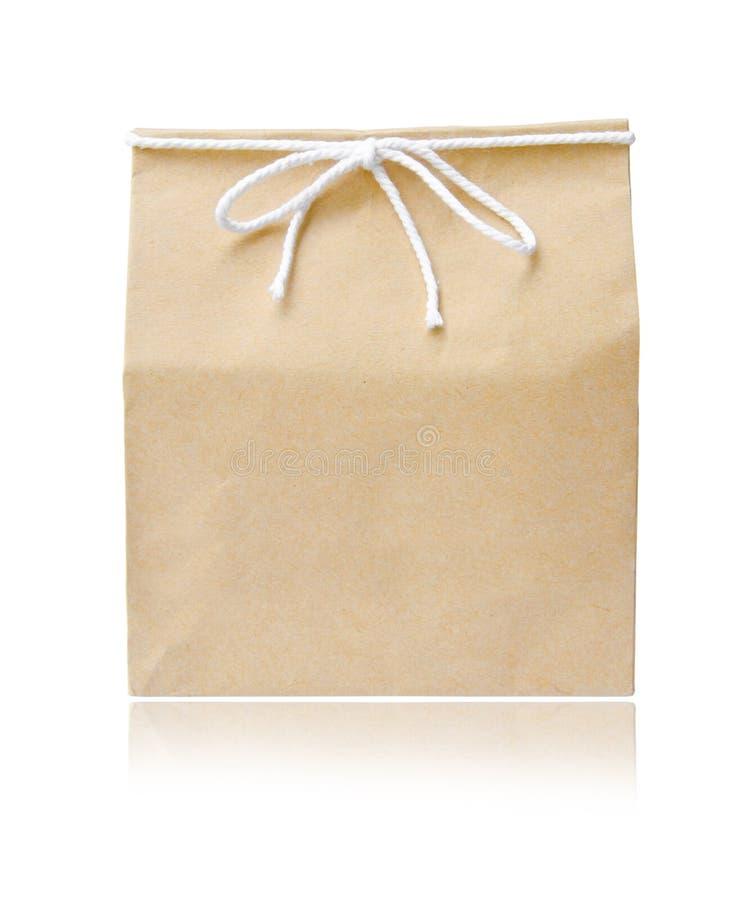 Рециркулируйте коричневую бумажную сумку стоковое фото