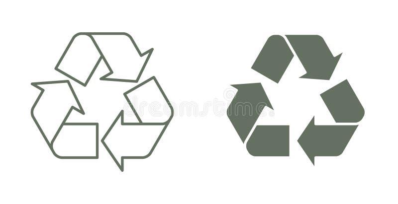 рециркулируйте символ стоковые фото