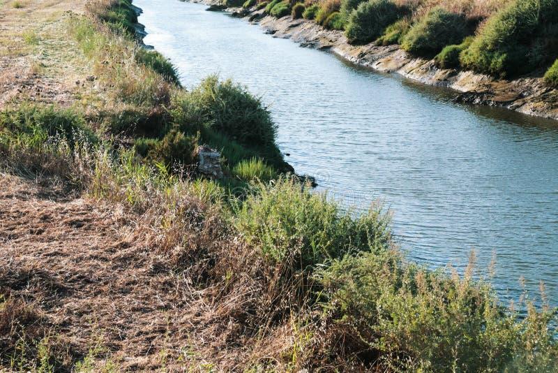 речной берег Ribeira de Quarteira в vilamoura стоковое изображение
