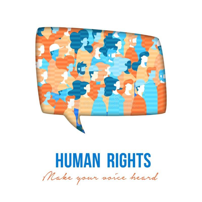 Речь группы людей прав человека buble бесплатная иллюстрация