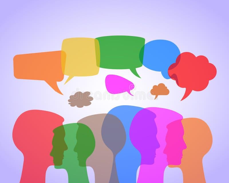 Речь людей - вектор запаса бесплатная иллюстрация
