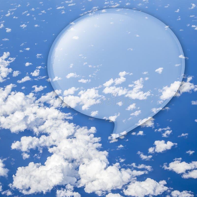 Речь цитаты Buble на облаке иллюстрация штока