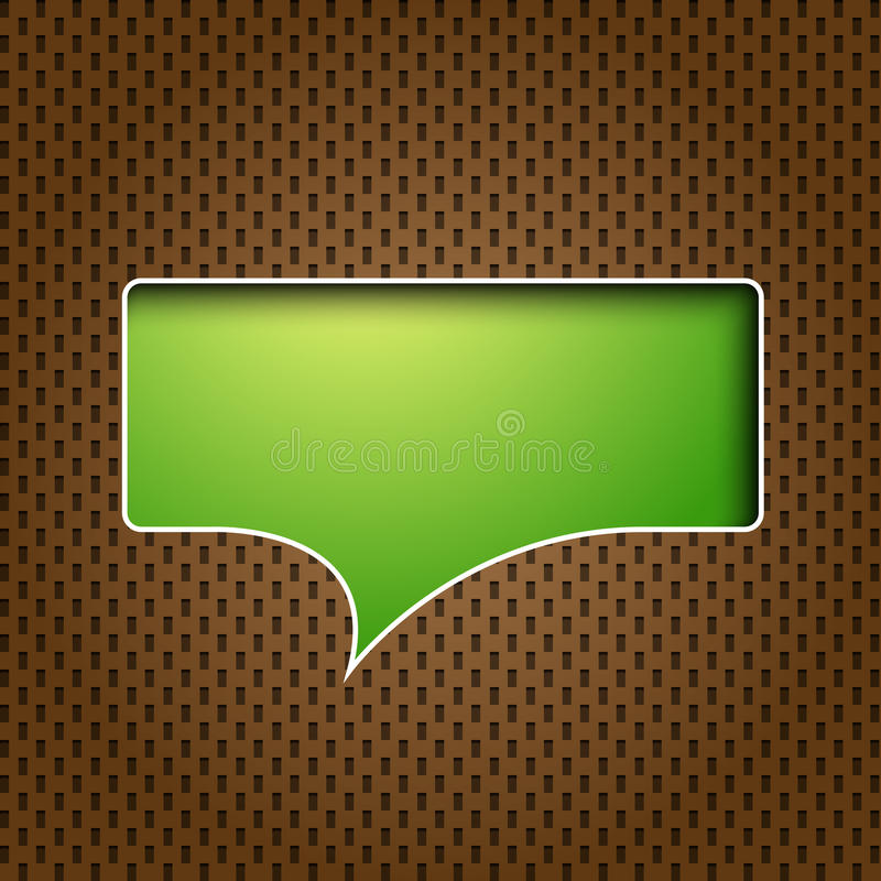 речь quote зеленого цвета пузыря иллюстрация штока
