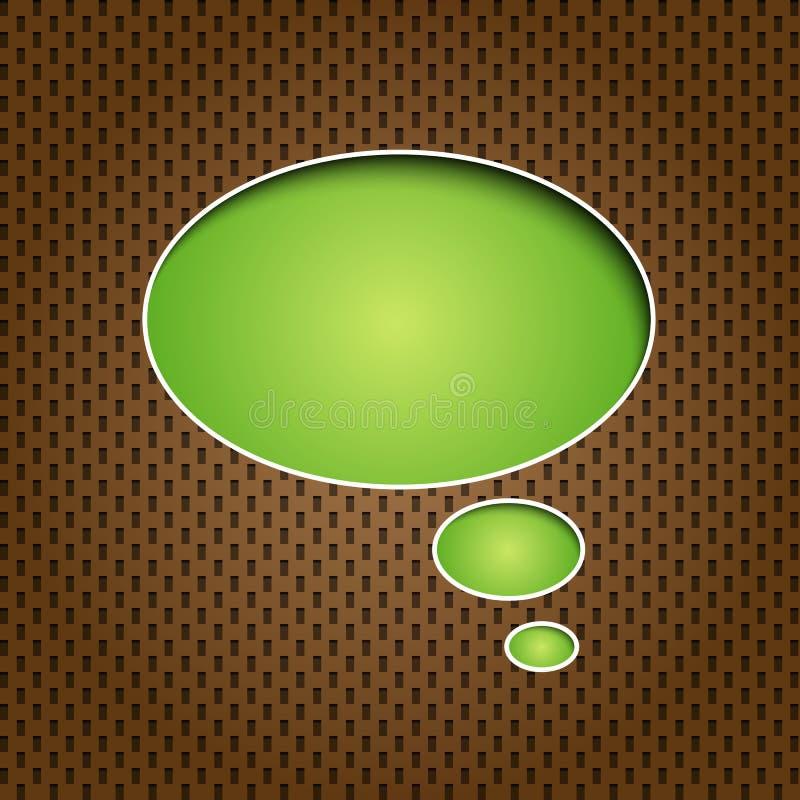 речь quote зеленого цвета пузыря иллюстрация вектора