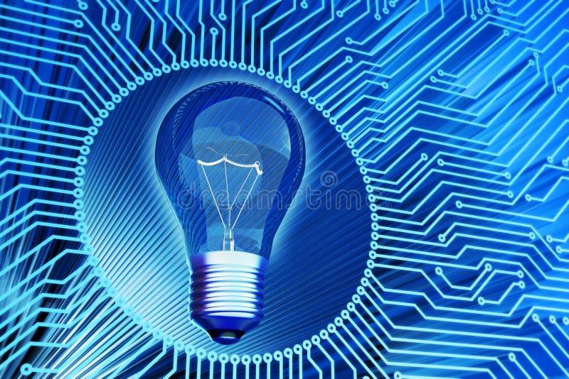 Решение дела, творческая идея, компьутерные науки и концепция электротехнической технологии бесплатная иллюстрация