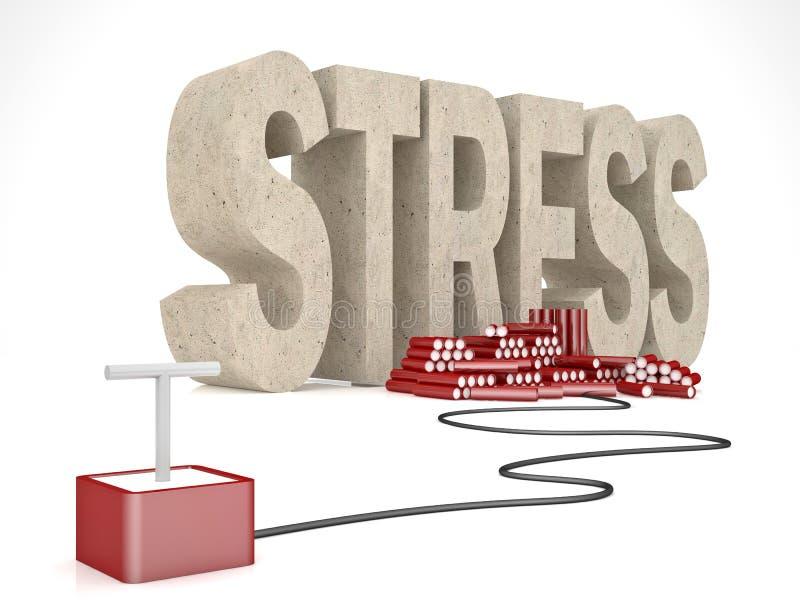 Решение для стресса иллюстрация вектора