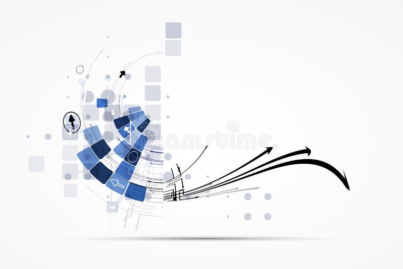 Решения дела концепции новой технологии компьютера интернета иллюстрация штока