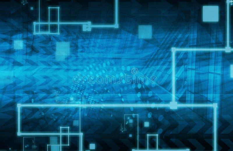 Решения информационной технологии иллюстрация вектора