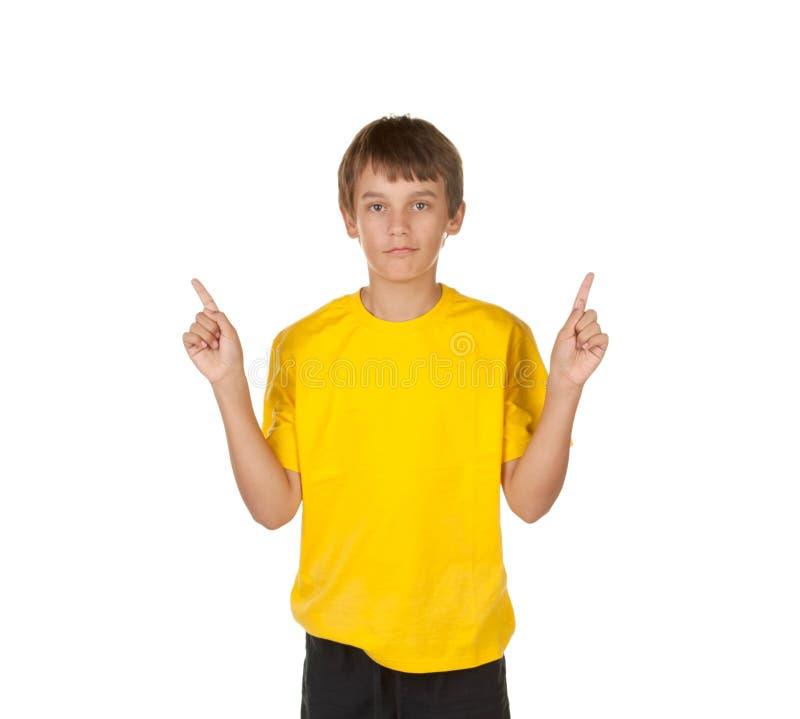 решения мальчика делая путь который стоковая фотография