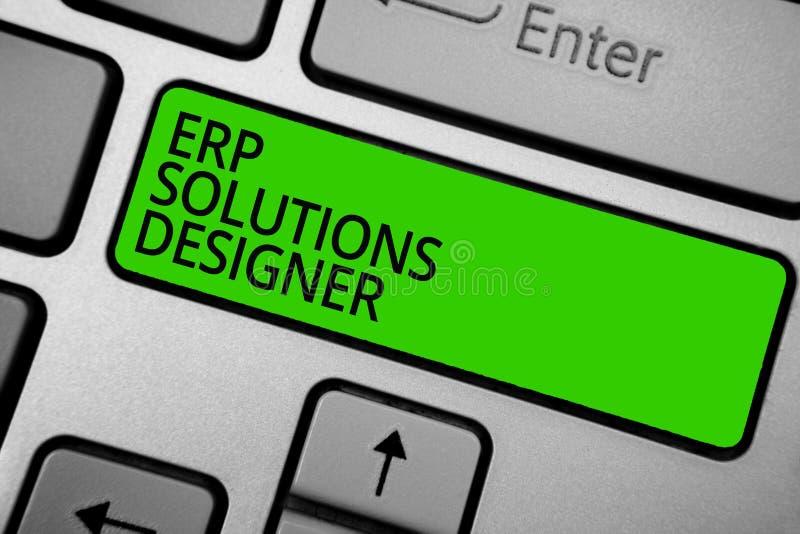 Решения Erp текста сочинительства слова дизайнерские Концепция дела для зеленого цвета оптимизированного элегантного modularised  иллюстрация штока
