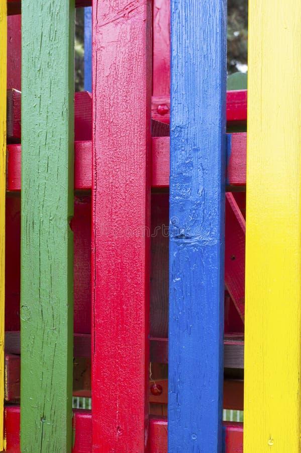 Решетины вертикали 4 покрашенные стоковая фотография rf