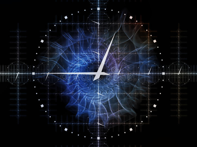 Решетка времени иллюстрация штока