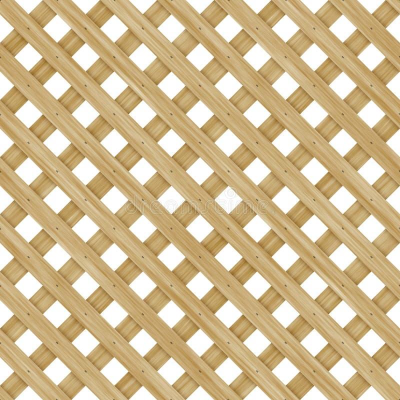 решетка деревянная иллюстрация вектора