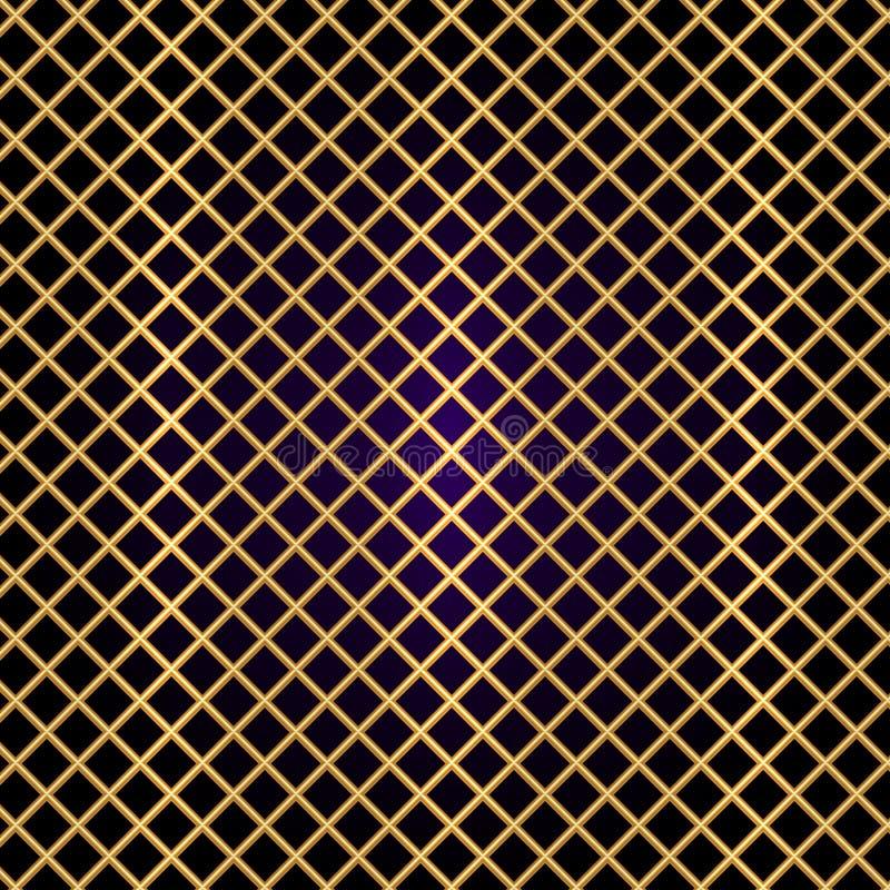 Решетка золота вектора на черной предпосылке иллюстрация штока