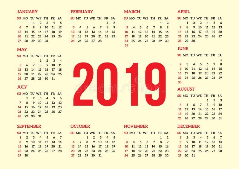 Решетка календаря для задней стороны визитной карточки также вектор иллюстрации притяжки corel покрашенная предпосылка женщина ти бесплатная иллюстрация