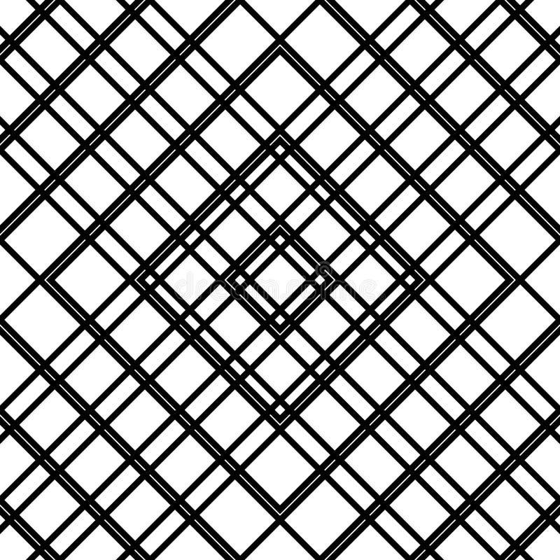 Download Решетка, картина сетки безшовная геометрическая Monochrome текстура Vecto Иллюстрация вектора - иллюстрации насчитывающей решетка, свободно: 81803391