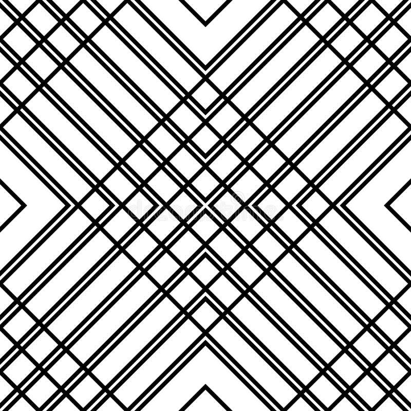 Download Решетка, картина сетки безшовная геометрическая Monochrome текстура Vecto Иллюстрация вектора - иллюстрации насчитывающей editable, повторять: 81803392