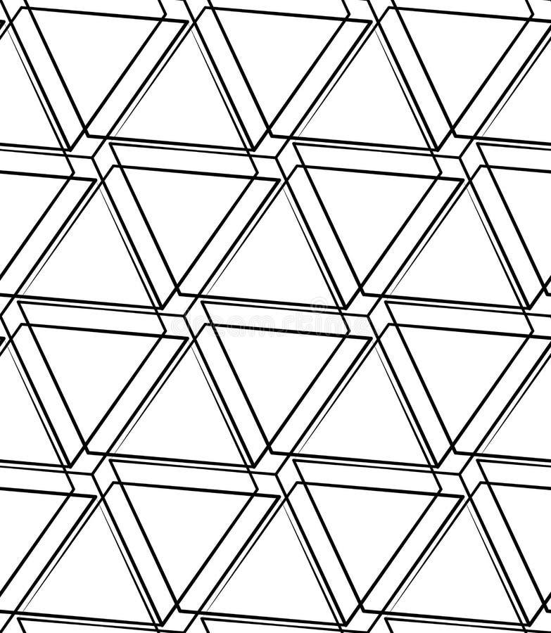Download Решетка, картина сетки безшовная Monochrome пересекая линии Иллюстрация вектора - иллюстрации насчитывающей падение, скрежетать: 81803523