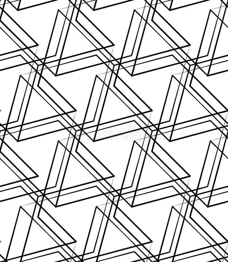Download Решетка, картина сетки безшовная Monochrome пересекая линии Иллюстрация вектора - иллюстрации насчитывающей мозаика, иллюстрация: 81803612