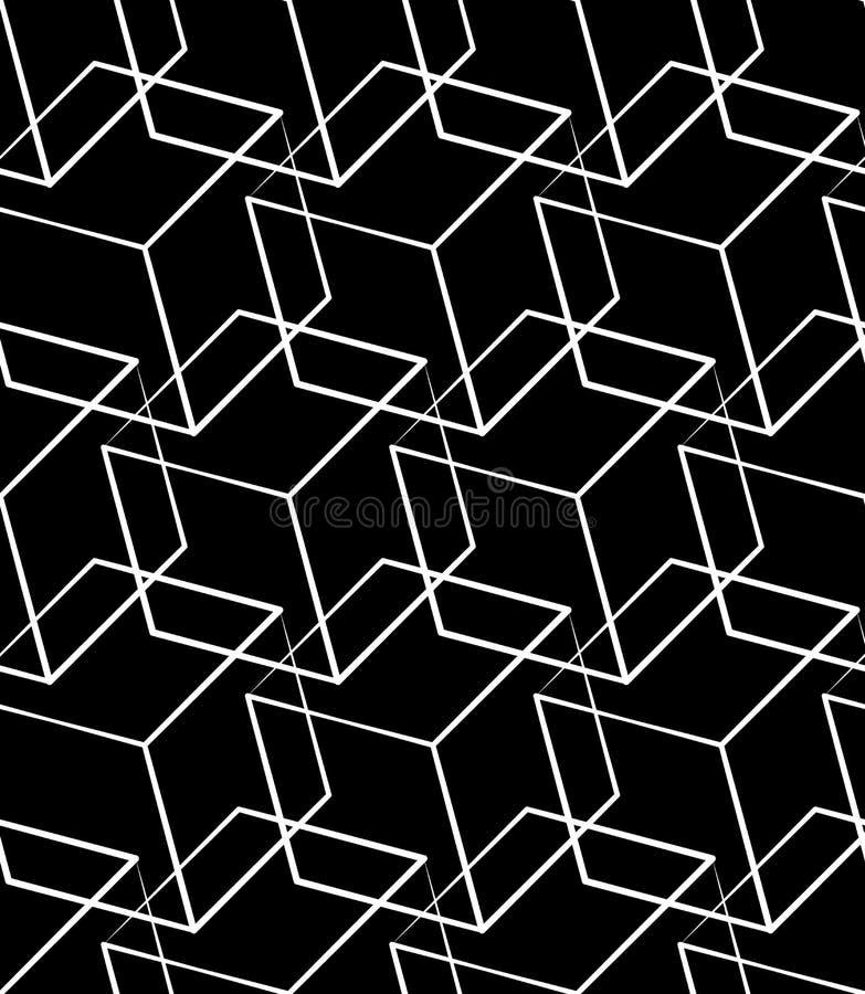 Download Решетка, картина сетки безшовная Monochrome пересекая линии Иллюстрация вектора - иллюстрации насчитывающей клетчато, падение: 81803862