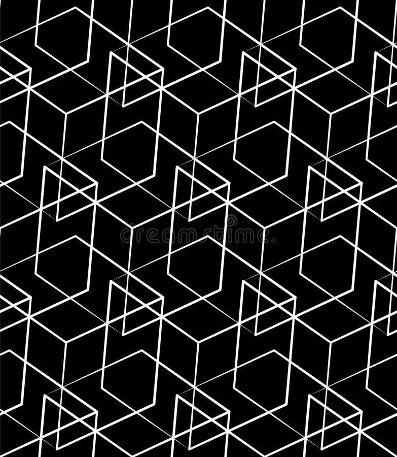 Download Решетка, картина сетки безшовная Monochrome пересекая линии Иллюстрация вектора - иллюстрации насчитывающей повторять, пересекать: 81803877