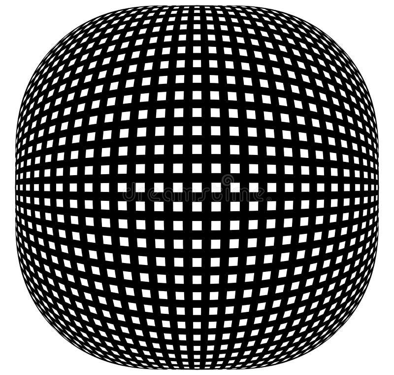 Download Решетка, картина сетки с искажением абстрактная геометрическая картина Иллюстрация вектора - иллюстрации насчитывающей черный, клетчато: 81803065
