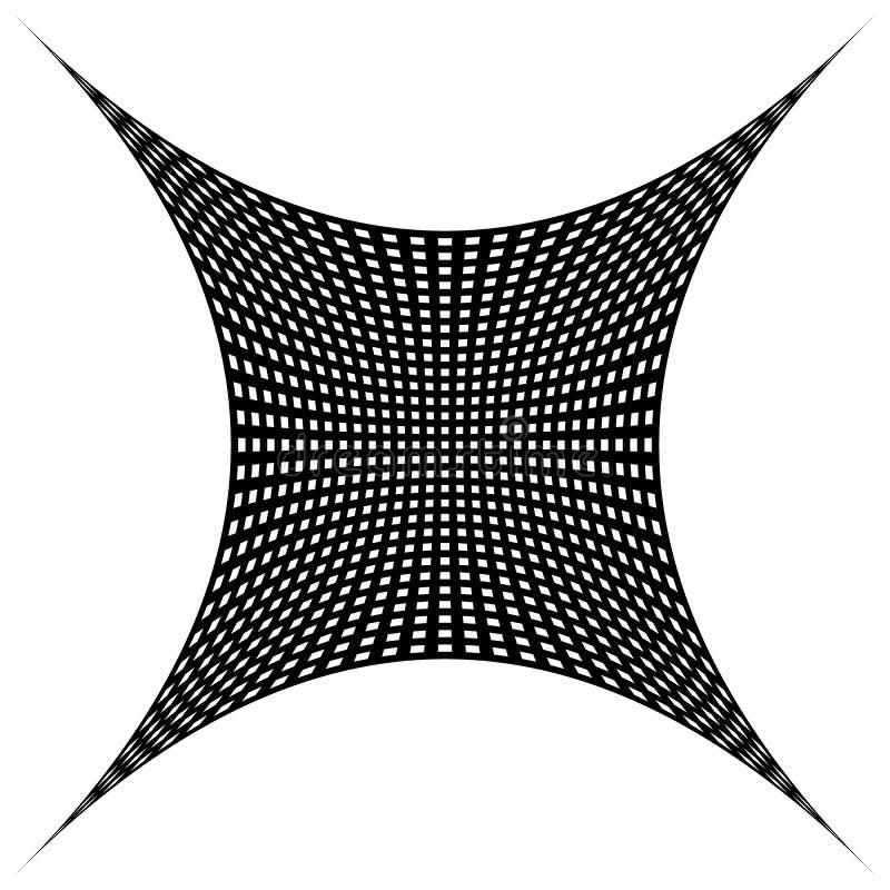 Download Решетка, картина сетки с искажением абстрактная геометрическая картина Иллюстрация вектора - иллюстрации насчитывающей деформация, иллюзорно: 81803479