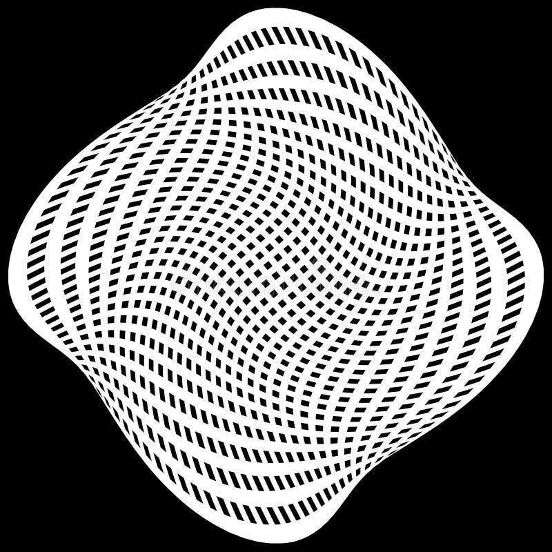 Download Решетка, картина сетки с искажением абстрактная геометрическая картина Иллюстрация вектора - иллюстрации насчитывающей flex, иллюзорно: 81803852