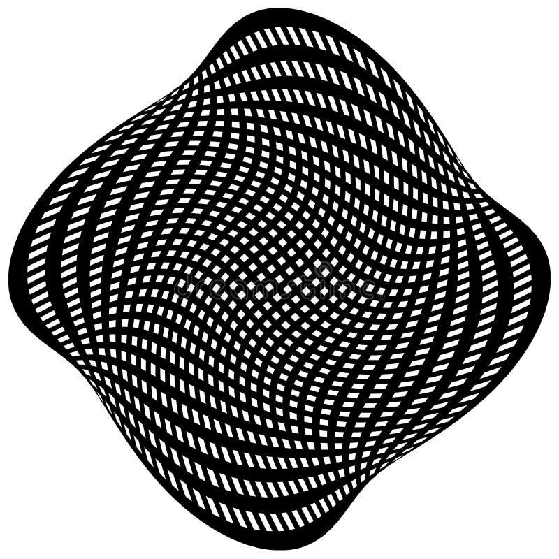Download Решетка, картина сетки с искажением абстрактная геометрическая картина Иллюстрация вектора - иллюстрации насчитывающей вакханические, monochrome: 81803856