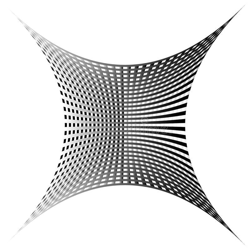 Download Решетка, картина сетки с искажением абстрактная геометрическая картина Иллюстрация вектора - иллюстрации насчитывающей бесцветно, monochrome: 81803948