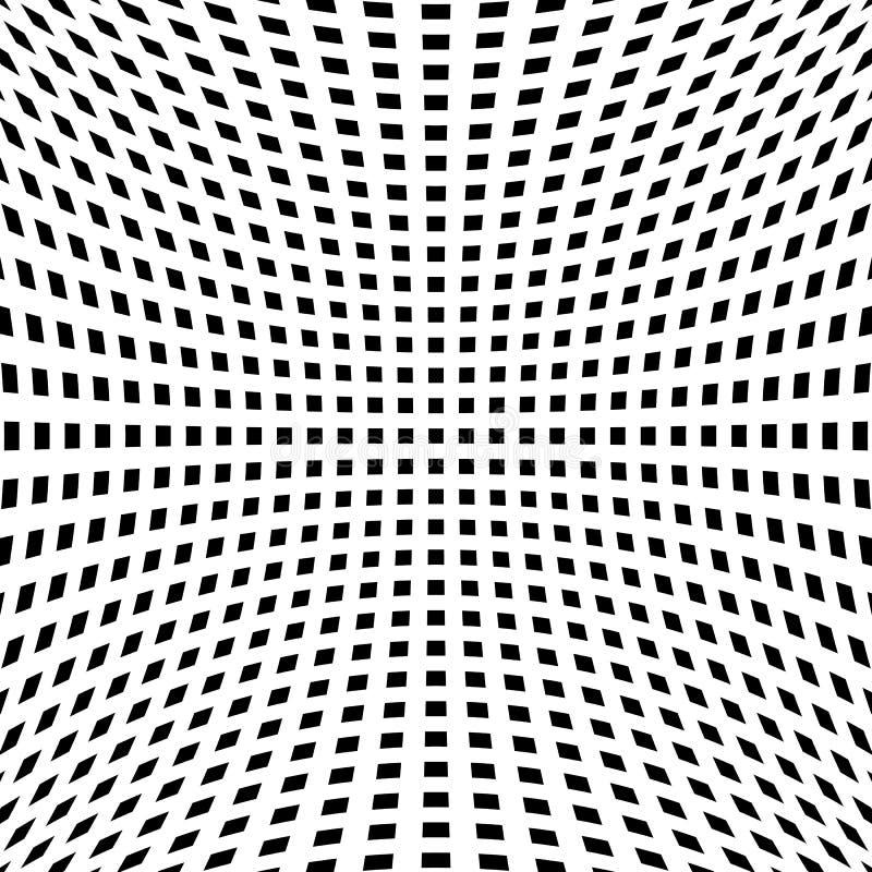 Download Решетка, картина сетки с искажением абстрактная геометрическая картина Иллюстрация вектора - иллюстрации насчитывающей линии, monochrome: 81803982